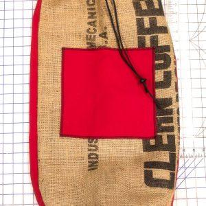 Red Burlap Laundry Bag