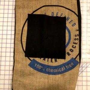 Blue Burlap Laundry Bag
